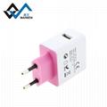 欧规USB充电器  2.1A单