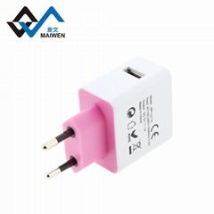 歐規USB充電器  2.1A單USB接口 大功率電流輸出