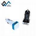 USB 方形车充cc03-2.1A