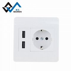 3C New National standard Household wall socket with dual USB