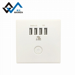 switch wall socket with 4 usb port type Maiwen -86