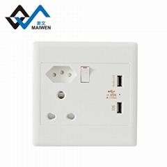 大南非墙面插座瑞士插孔单开双USB