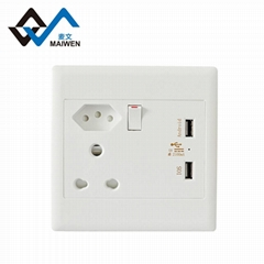 good quality hot sale south africa dual usb charging  wall socket