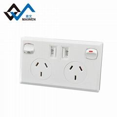 AU plug switch socket with dual usb port 2.1A