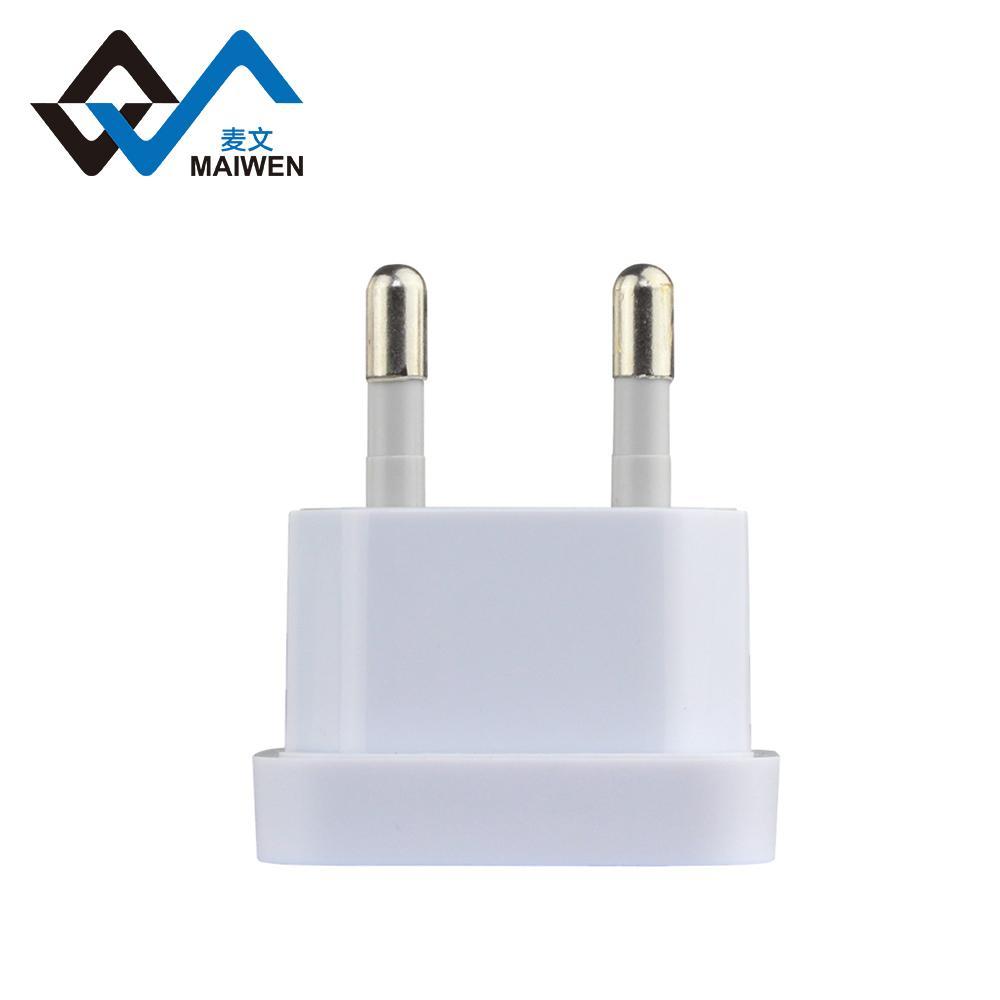 USA to EU 4.8mm Converter Plug Adapter 1