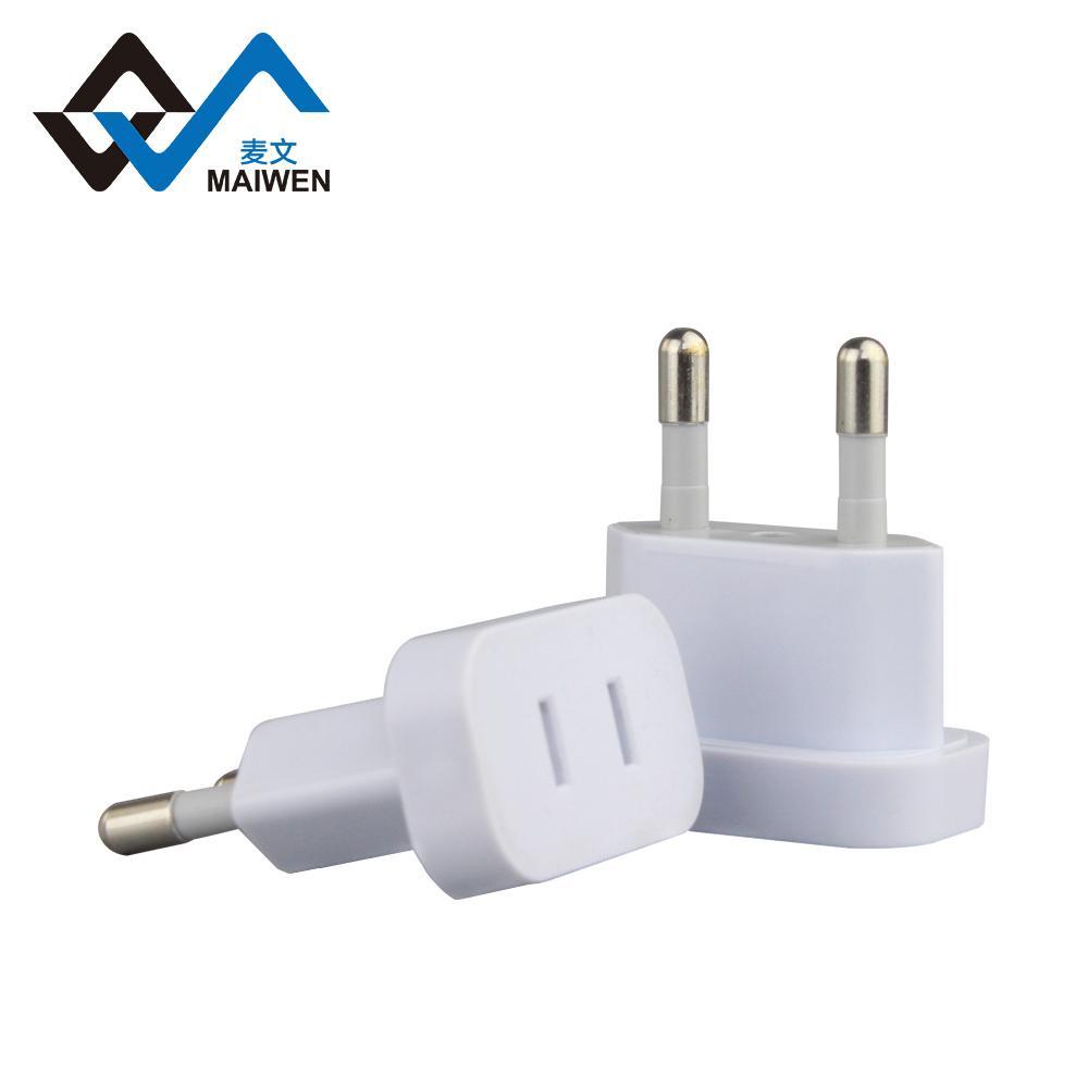 USA to EU 4.8mm Converter Plug Adapter 2