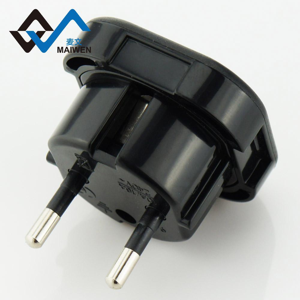 英规转欧规4.0 小插头 带安全门 黑白双色 1