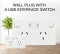 AU plug switch socket with dual usb port 2.1A 7