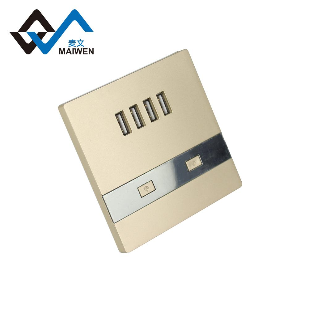 switch wall socket with 4 usb port type Maiwen -86 3