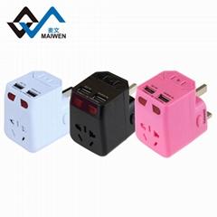 2.1A 双USB 旅行达人必备 多国转换插座