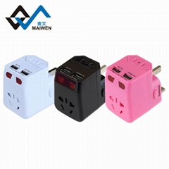 2.1 A double USB travel talent necessary The allied conversion socket