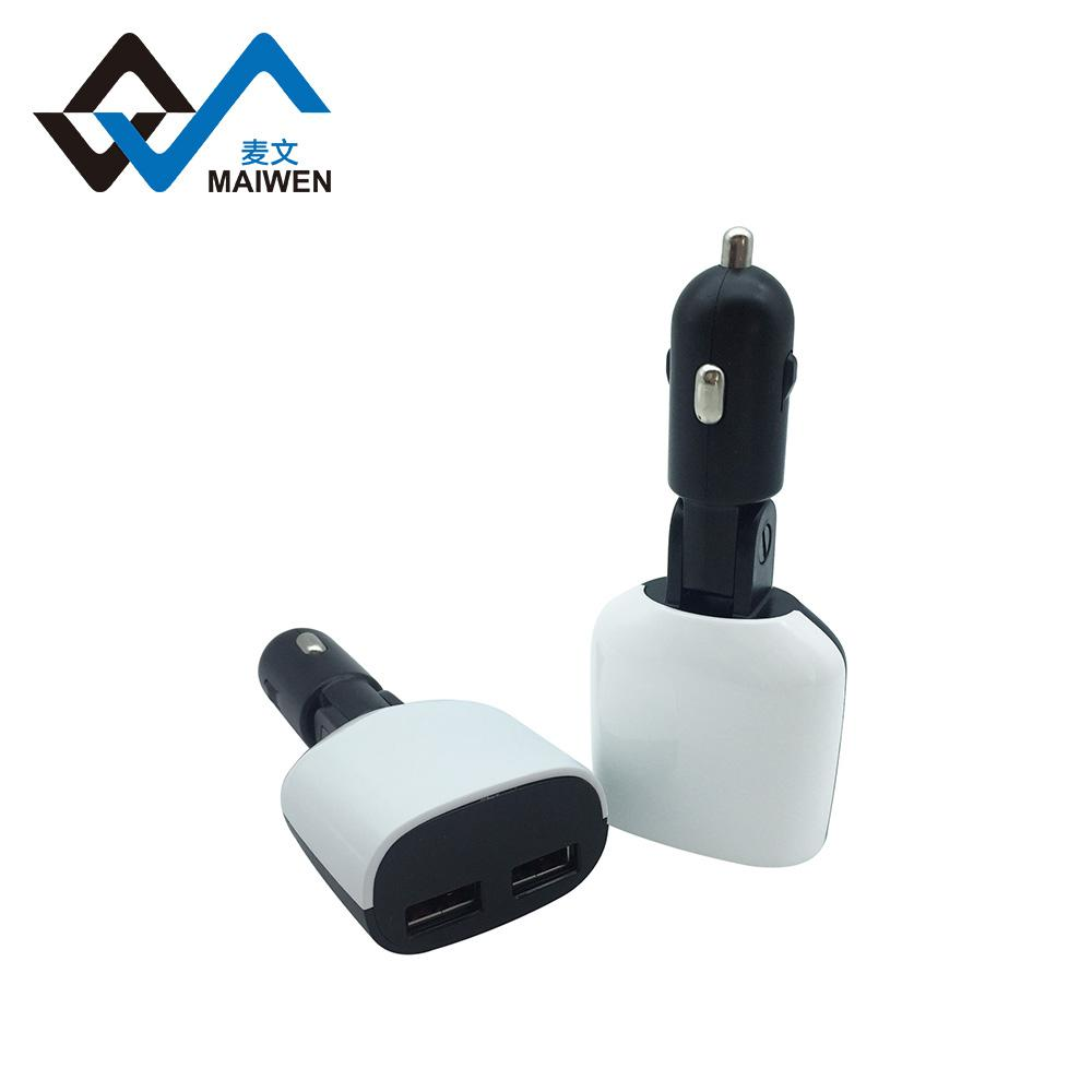 3.4A Car Charger with LED Light 5
