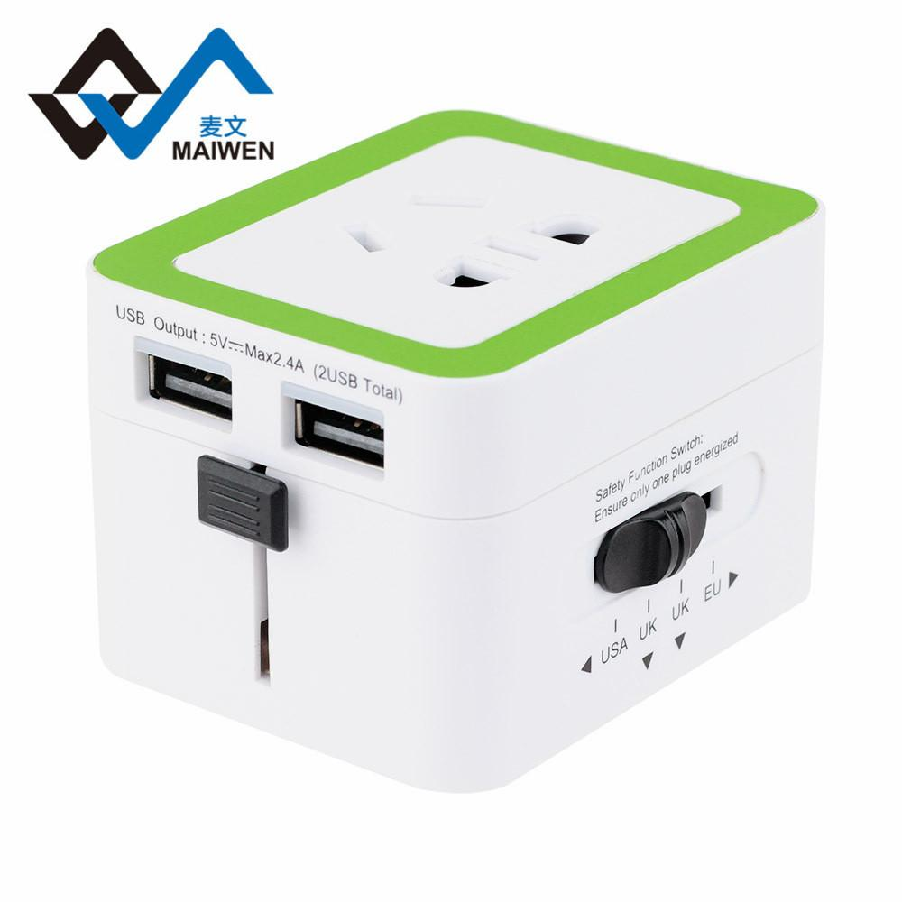双USB兼容安卓苹果 全球150多个国家地区可使用的转换器/插座 5