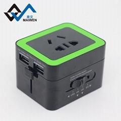 双USB兼容安卓苹果 全球150多个国家地区可使用的转换器/插座