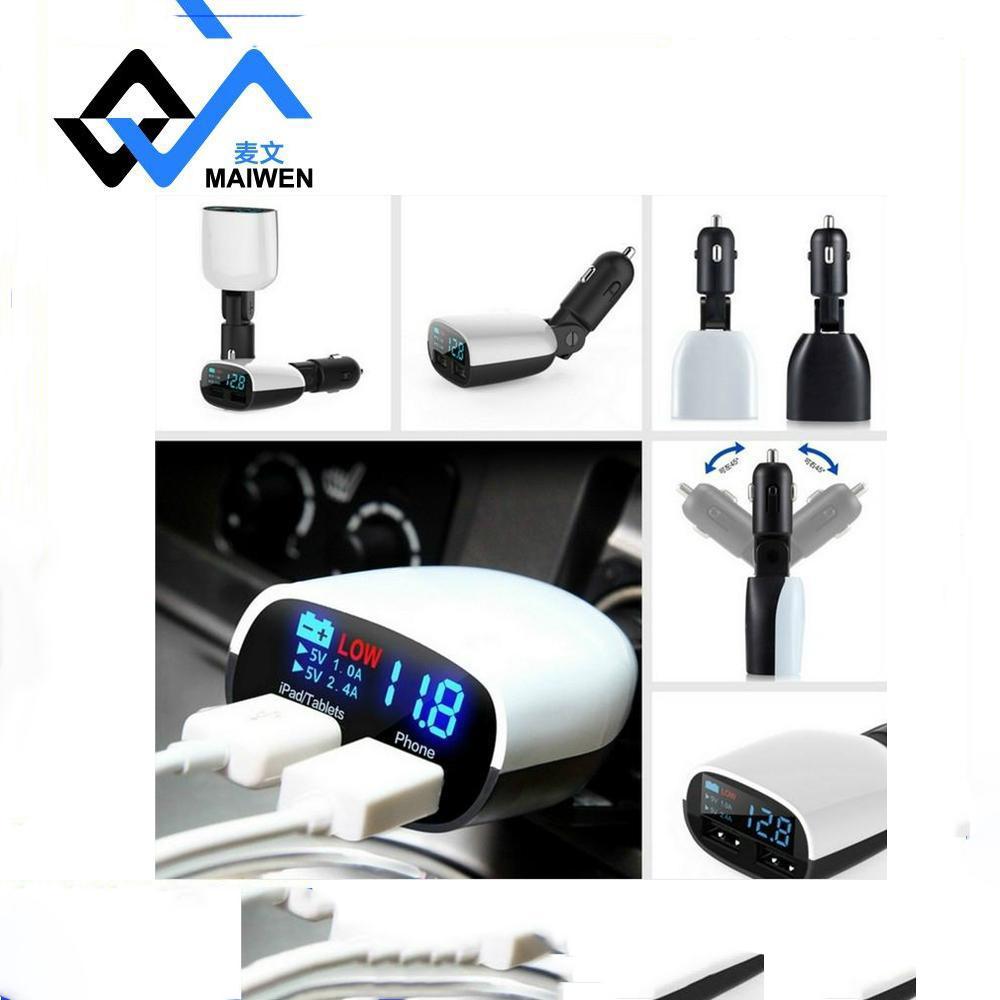 带LED电压显示车载充电器MV-R11 7