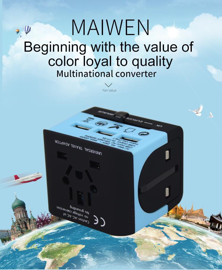 2018 the new 3 USB multinational general transform plugs 9