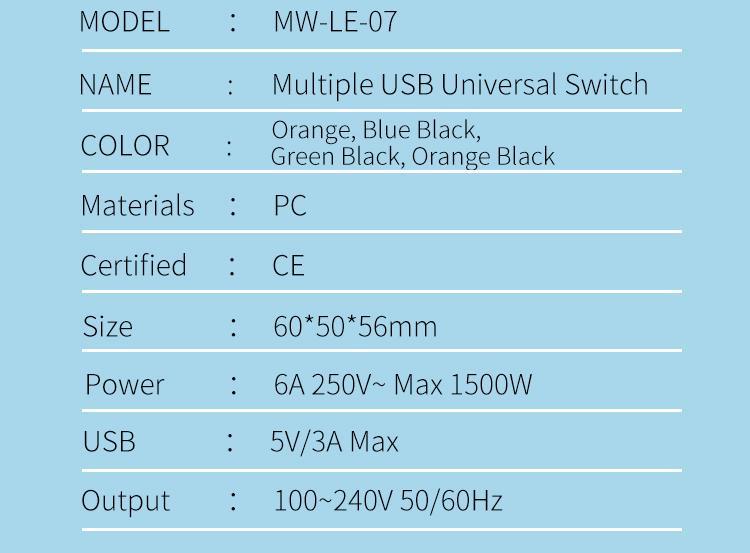 2018 the new 3 USB multinational general transform plugs 10