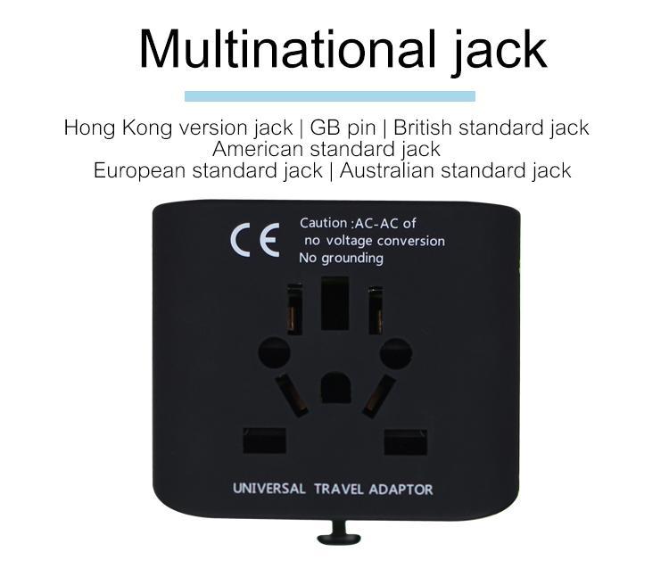 2018 the new 3 USB multinational general transform plugs 12