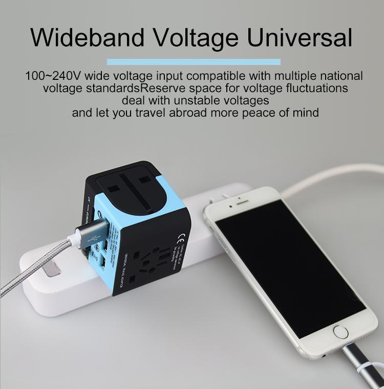 2018 the new 3 USB multinational general transform plugs 13