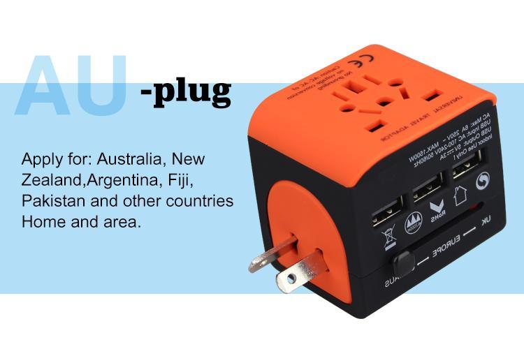 2018 the new 3 USB multinational general transform plugs 17