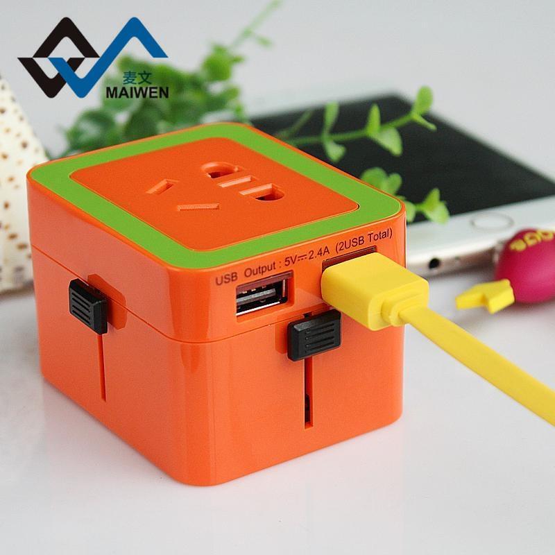 英国香港转换器插头转换器双USB充电器 2
