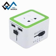 英國香港轉換器插頭轉換器雙USB充電器