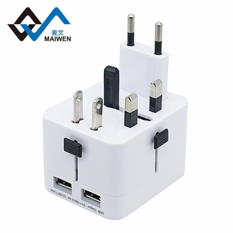 The British Hong Kong converter plug converter Double USB charger 4