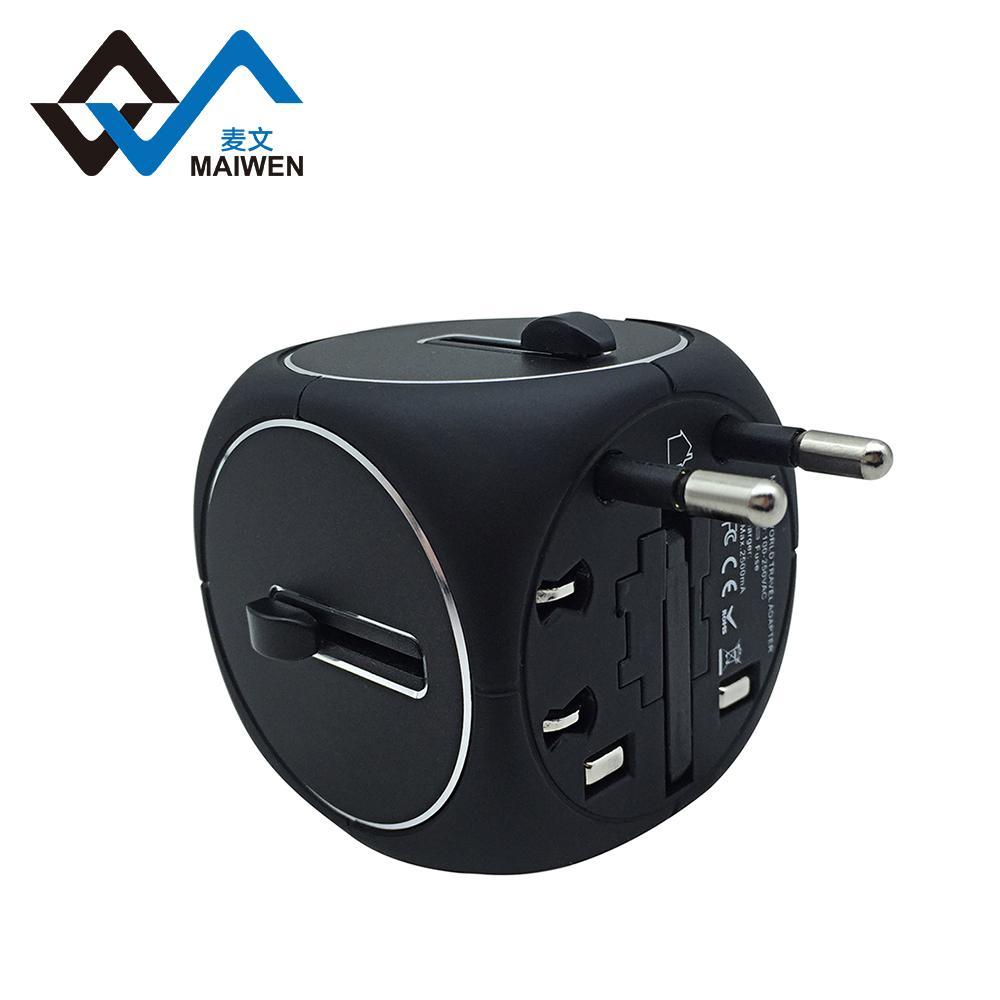 2USB多功能转换插座 多国转换器定制 5
