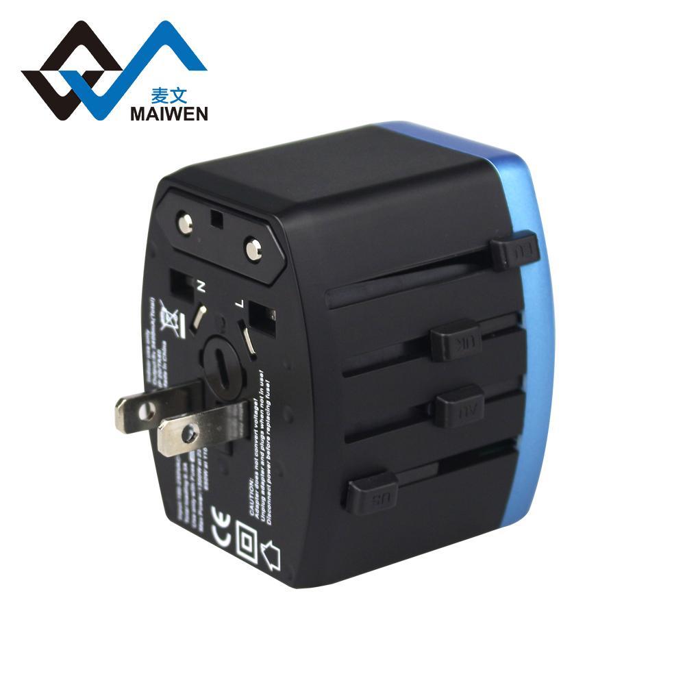 4USB多功能转换插头 USB充电器多国通插头 4