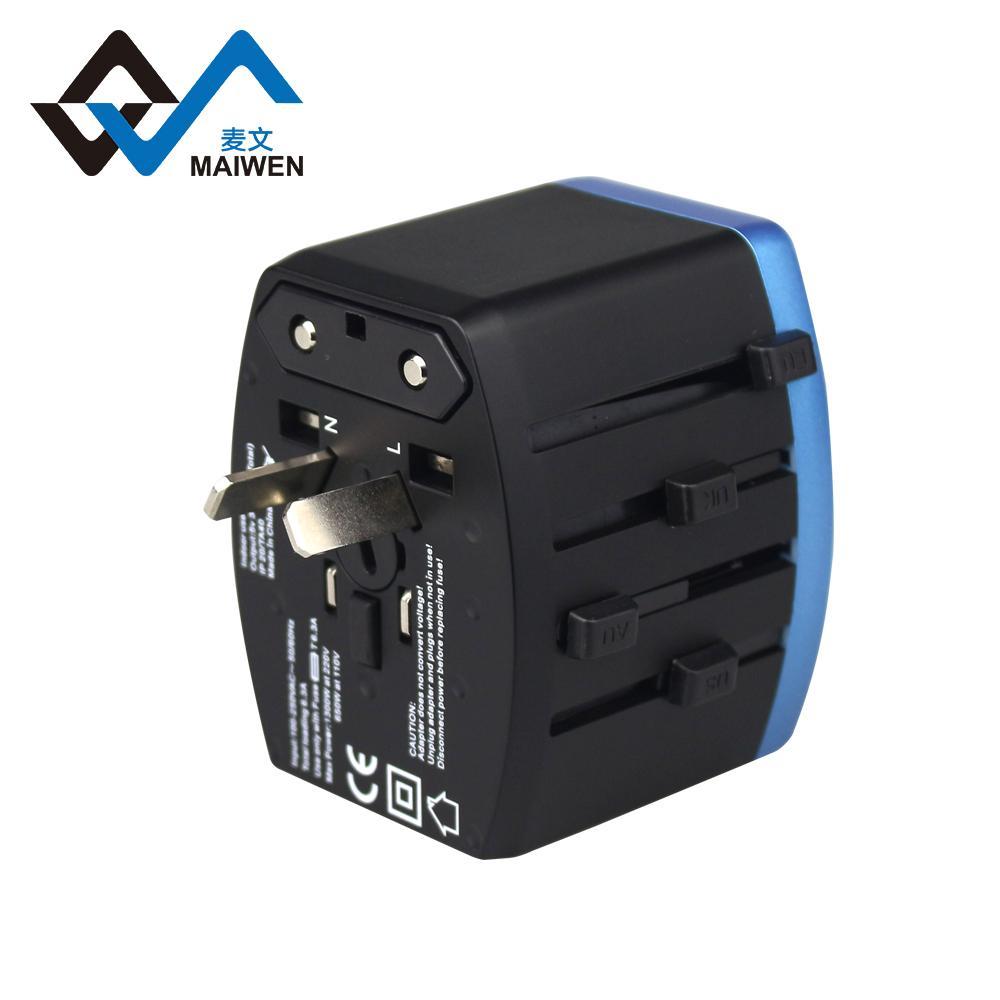 4USB多功能转换插头 USB充电器多国通插头 6