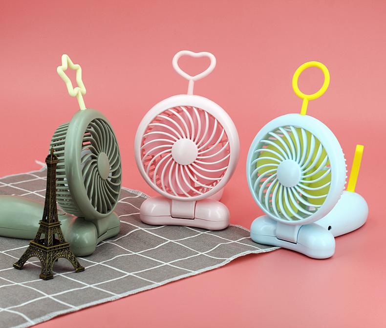 天線寶寶usb風扇手持 可折疊 便攜式口袋卡通桌面辦公禮品 11