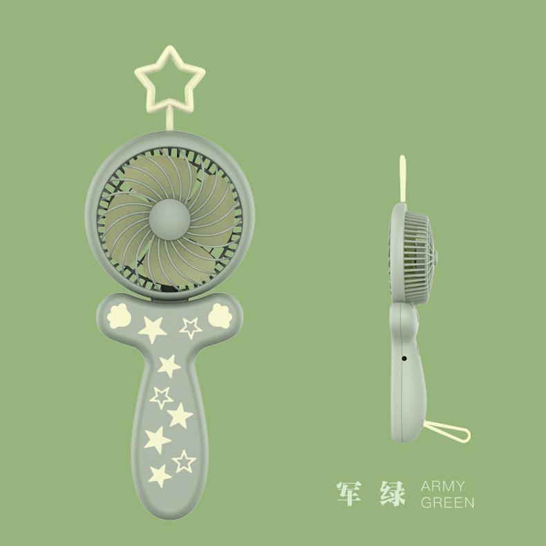天线宝宝usb风扇手持 可折叠 便携式口袋卡通桌面办公礼品 9