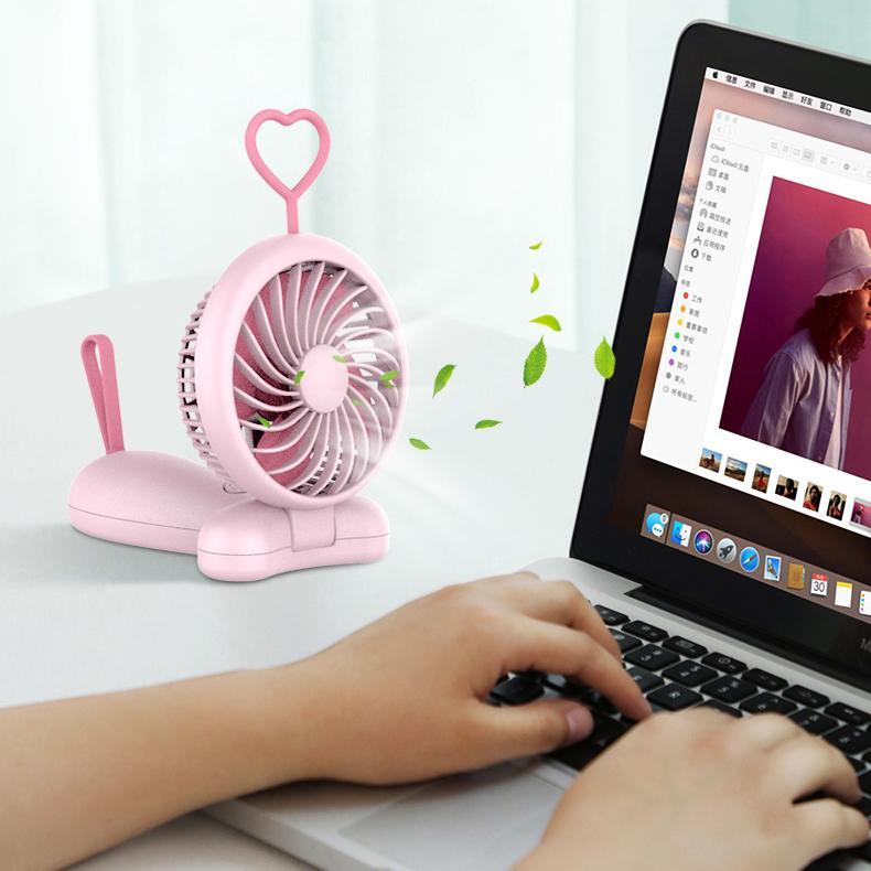 天線寶寶usb風扇手持 可折疊 便攜式口袋卡通桌面辦公禮品 3