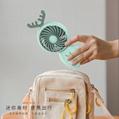網紅小風扇便攜式usb充電手持桌面鹿角 迷你風扇 學生用辦公禮品 4