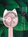 Cat head spray moisturizing fan Outdoor cooling USB charging small fan 4