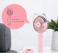 Cat head spray moisturizing fan Outdoor cooling USB charging small fan 5