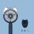 Cat head spray moisturizing fan Outdoor cooling USB charging small fan 7