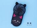 Night light ultra-thin mini fan portable USB charging  hidden bracket cute style  11