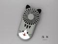 Night light ultra-thin mini fan portable USB charging  hidden bracket cute style  10