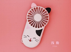 Night light ultra-thin mini fan portable USB charging  hidden bracket cute style
