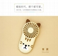 Night light ultra-thin mini fan portable USB charging  hidden bracket cute style  9