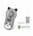 Night light ultra-thin mini fan portable USB charging  hidden bracket cute style  4