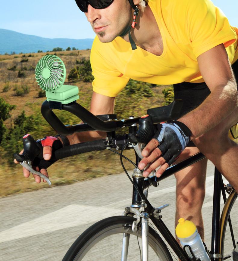 便携式USB挂包风扇骑行手持多功能折叠角度调节创意礼品办公礼品 7