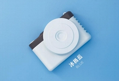 超薄挂脖相机usb迷你手持小风扇静音可充电 便携式手持 学生