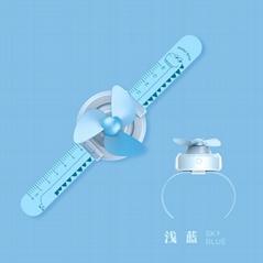 Children's cartoon watch with ruler automatically adjusts wrist creative fan