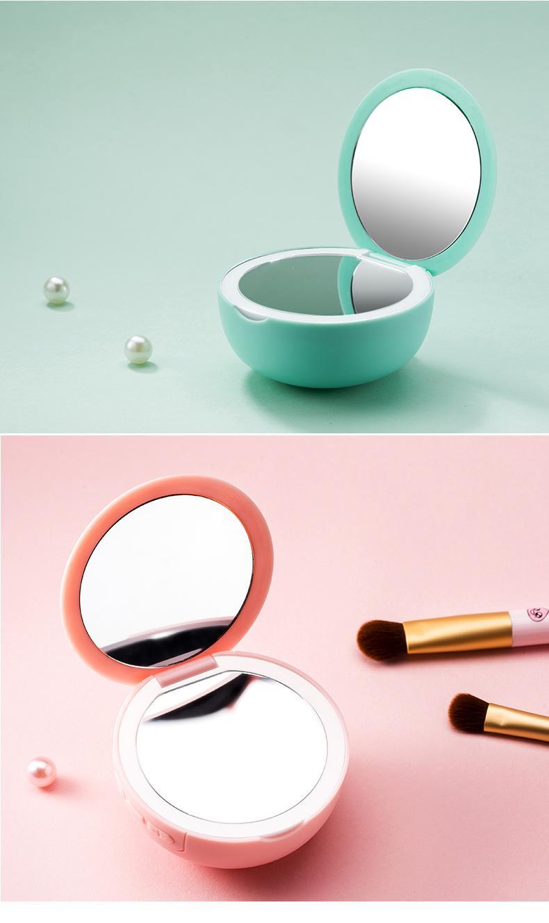 化妆镜子蓝牙音箱可爱个性创意用品 插卡U盘音响收音机 15