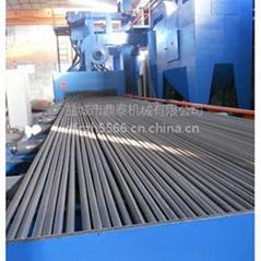 供应冷拔圆钢抛丸除锈机表面喷砂除锈