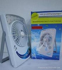 rechargable multi-function electric  fan