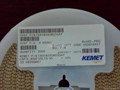 香港威王供應基美鉭電容 T491B335K035AT 3.3UF/35V B