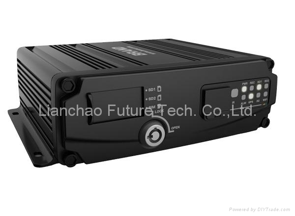 Dual SD Card 4CH FULL D1 Vehicle DVR with GPS